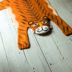 Vloerkleed Raj de Tijger van Sew Heart Felt - My Little Carpet