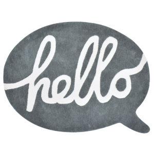 Vloerkleed Hello Antraciet H0278 van Lilipinso - My Little Carpet