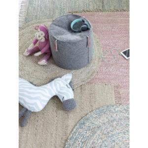 Vloerkleed Jute Roze van KidsDepot- My Little Carpet