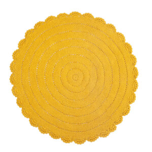 Vloerkleed Roundy Geel van KidsDepot- My Little Carpet