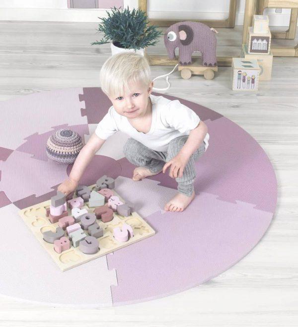 Speelmat Puzzel Vintage Rose van Sebra - My Little Carpet