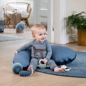 Vloerkleed Gehaakt Gradient Blue van Sebra - My Little Carpet
