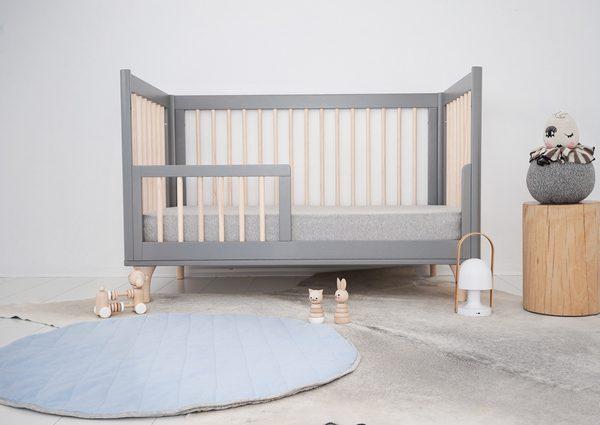 Speelkleed Quilted Light Blue/Light Grey van Mister Fly - My Little Carpet