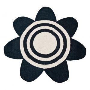 Vloerkleed Bloem Gehaakt Zwart van Anne-Claire Petit - Afgeprijsd - uitverkoop - sale - aanbieding - goedkoop