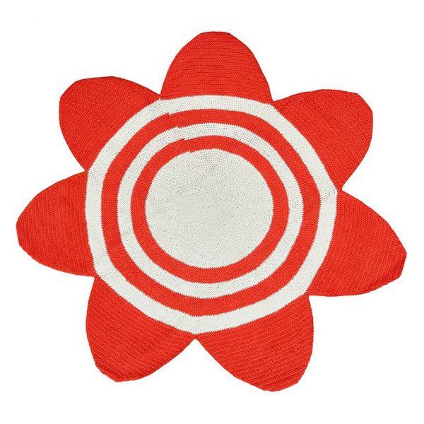 Vloerkleed Bloem Gehaakt Rood van Anne-Claire Petit - Afgeprijsd - uitverkoop - sale - aanbieding - goedkoop