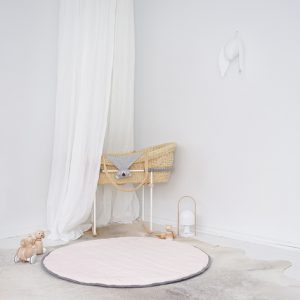 Speelkleed Quilted Pink/ Dark Grey van Mister Fly - My Little Carpet