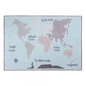 Vloerkleed Vintage Map van Lorena Canals - My Little Carpet