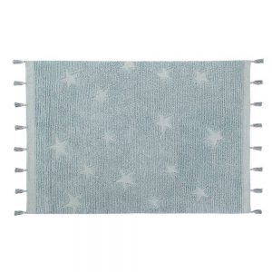 Vloerkleed Hippy Stars Aqua Blue van Lorena Canals - My Little Carpet