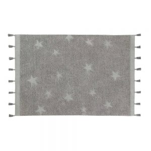 Vloerkleed Hippy Stars Grey van Lorena Canals - My Little Carpet