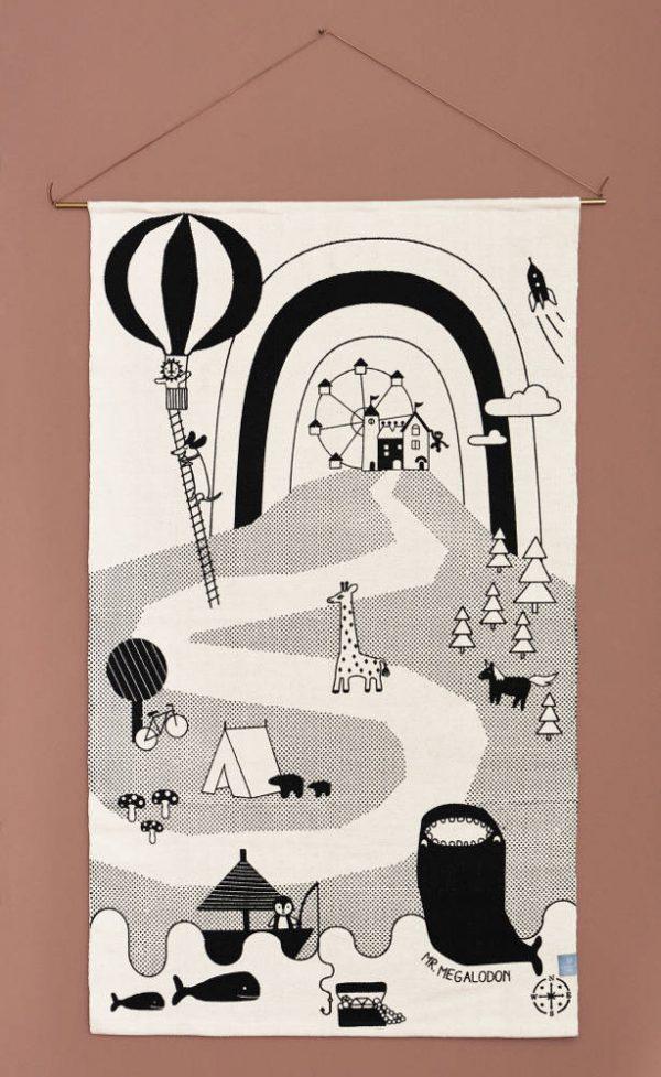 Vloerkleed Mr. Megalodon Adventure van OYOY - My Little Carpet