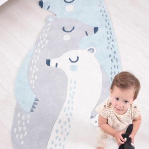 Vloerkleed 3 Beren H0526 van Lilipinso - My Little Carpet