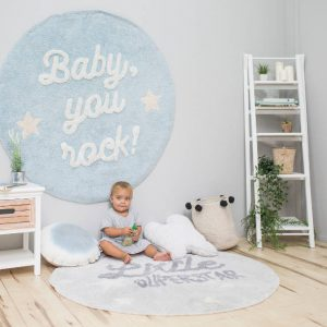 Vloerkleed Baby You Rock! van Lorena Canals - My Little Carpet