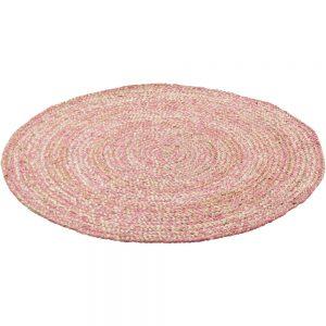 Vloerkleed Rond Jute Roze van KidsDepot - My Little Carpet