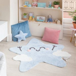 Vloerkleed Silhouette Happy Star van Lorena Canals - My Little Carpet