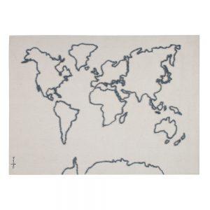 Wandkleed Wereldkaart van Lorena Canals - My Little Carpet
