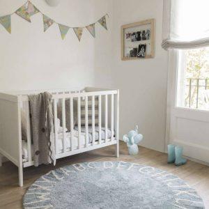 Vloerkleed Round ABC Blue van Lorena Canals - My Little Carpet