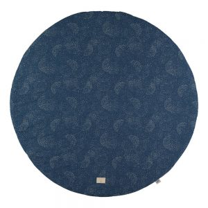 Speelkleed Full Moon - Gold Bubble Night Blue van Nobodinoz - My Little Carpet