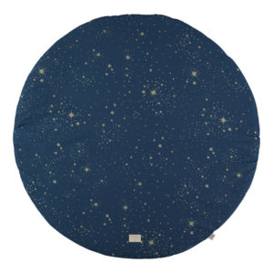 Speelkleed Full Moon - Gold Stella Night Blue van Nobodinoz - My Little Carpet