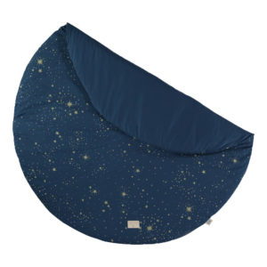 Speelkleed Full Moon - Gold Stella Night Blue van Nobodinoz - My Little Carpet