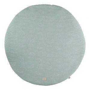 Speelkleed Full Moon - White Bubble Aqua van Nobodinoz - My Little Carpet