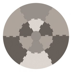 Speelmat Puzzel Warm Grey van Sebra - My Little Carpet