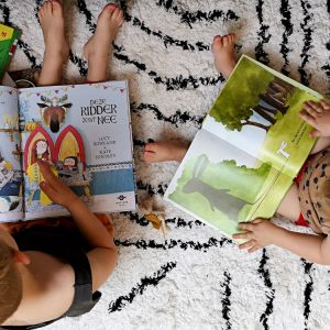 Vloerkleed Berber Zwart-Wit van KidsDepot - My Little Carpet
