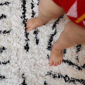 Vloerkleed Berber Zwart-Wit van KidsDepot - My Little Carpet
