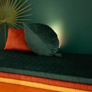 Speelmatras Zanzibar Velvet - Jungle Green van Nobodinoz - My Little Carpet