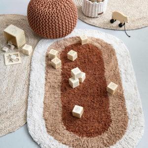Vloerkleed Otis Terra Ovaal en Jute Ovaal van KidsDepot - My Little Carpet