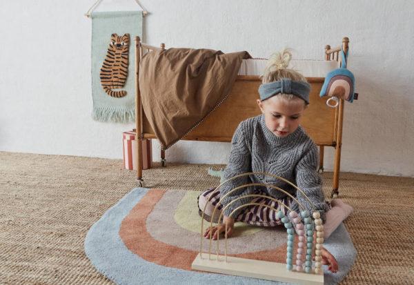 Vloerkleed Rainbow + Wandhanger Tijger van OYOY Mini - My Little Carpet