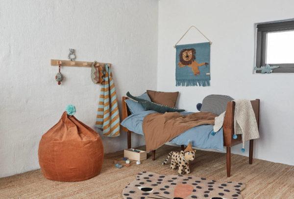 Vloerkleed Leopard + Wandhanger Leeuw van OYOY mini - My Little Carpet