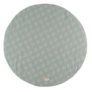 Speelkleed Full Moon, White Gatsby Antique Green van Nobodinoz - My Little Carpet
