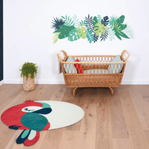 Vloerkleed Green Parrot Tropica, Papegaai H0586 van Lilipinso - My Little Carpet