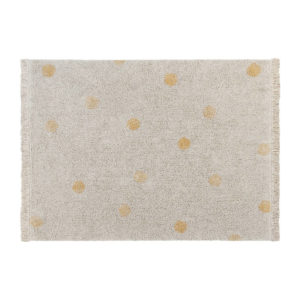 Vloerkleed Hippy Dots Natural Honey van Lorena Canals - My Little Carpet