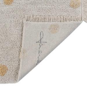 Vloerkleed Hippy Dots Natural Honey van Lorena Canals - My Little Carpet