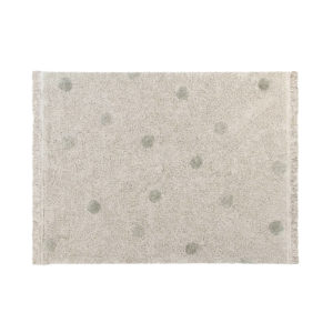 Vloerkleed Hippy Dots Natural Olive van Lorena Canals - My Little Carpet