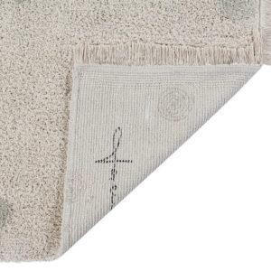 Vloerkleed Hippy Dots Natural Olive van Lorena Canals - My Little Carpet