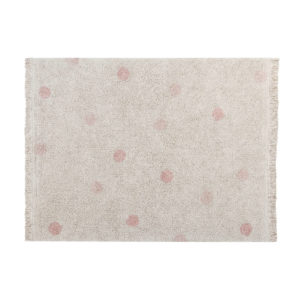 Vloerkleed Hippy Dots Natural Vintage Nude van Lorena Canals - My Little Carpet