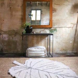 Vloerkleed Monstera Natural van Lorena Canals - My Little Carpet