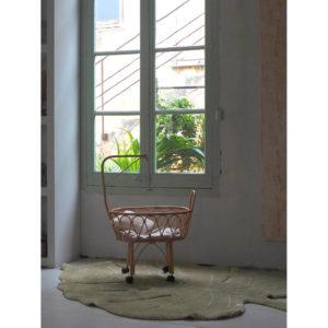 Vloerkleed Monstera Olive van Lorena Canals - My Little Carpet