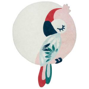 Vloerkleed Pink Parrot Tropica, Papegaai H0587 van Lilipinso - My Little Carpet