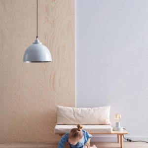 Vloerkleed Jute/Katoen Blauw/Grijs van Kid's Concept - My Little Carpet