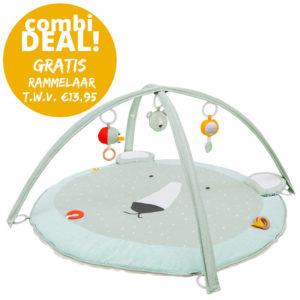 Combideal: Activiteiten Speelmat Met Babygym + Activiteitenbal + GRATIS Rammelaar, Mr. Polar Bear van Trixie Baby – My Little Carpet