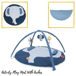 Activiteiten Speelmat Met Babygym, Mrs. Elephant van Trixie Baby - My Little Carpet
