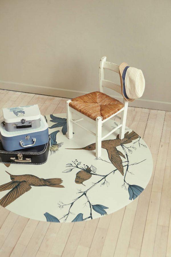 Knoeimat, Splat Mat Humming Bird Sand van Everleigh & Me - My Little Carpet