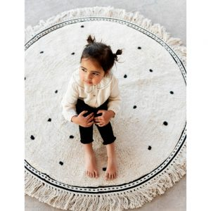 Vloerkleed Round Anna Dots Cream van Tapis Petit - My Little Carpet
