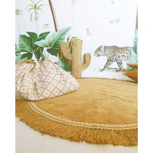 Vloerkleed Round Anna Ocher van Tapis Petit - My Little Carpet