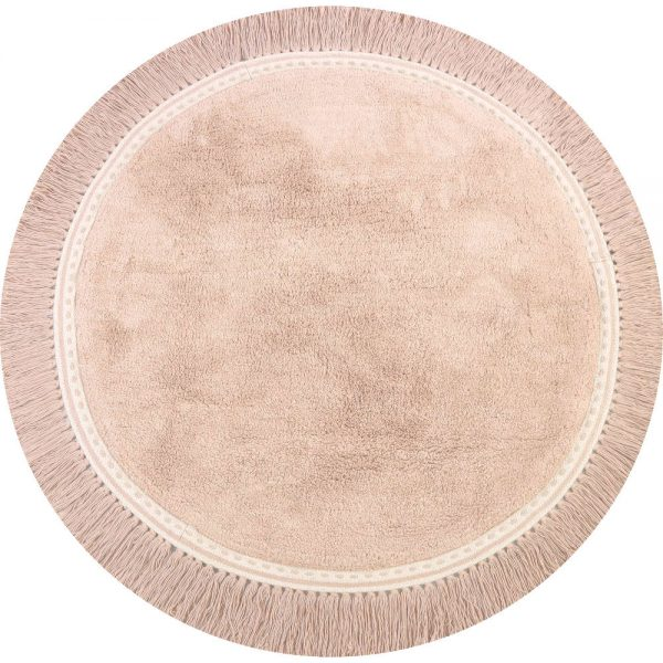 Vloerkleed Round Anna Soft Pink van Tapis Petit - My Little Carpet