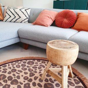 Vloerkleed Rond Leopard/luipaard van Tapis Petit - My Little Carpet