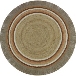 Rond vloerkleed Jute Tess Rust van Tapis Petit - My Little Carpet
